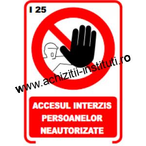 indicatoare de interzicere -25