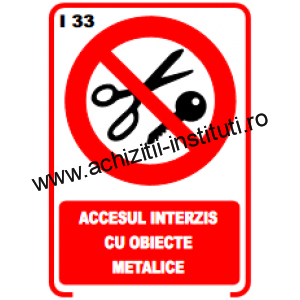 indicatoare de interzicere -33
